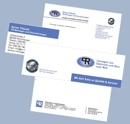 Visitenkarten Briefpapier Klick7 Webdesign Augsburg